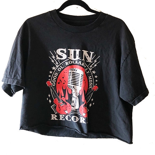 Vintage Sun Records Nashville Cropped Band T-Shirt