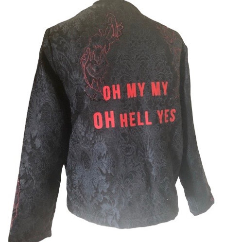 Last Dance with Mary Jane Tom Petty Inspired Custom Black Lace Jacket