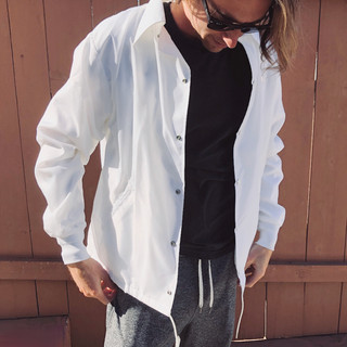 Nylon Snap Bomber Jacket