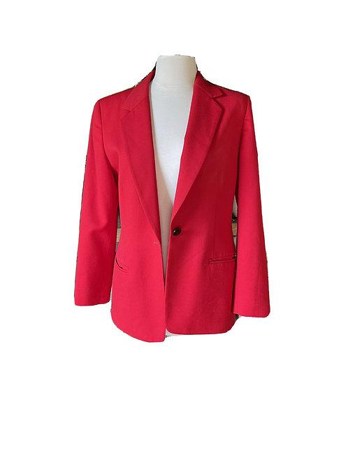 Vintage Red Pendleton Wool Blazer Size 4 Wool Jacket