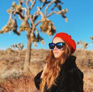 Joshua Tree Fashion Maven in the red beret