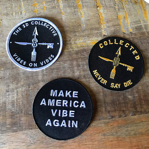 """Trio of 3"""" Iron-on Patches"""