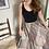 Thumbnail: Vintage Blair Brown and Tan Pleated A-Line Midi Skirt