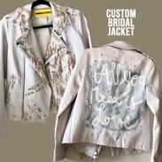 custom wedding bride bridal jacket
