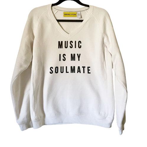 Custom Music is my Soulmate Screen Print 90s Sweatshirt