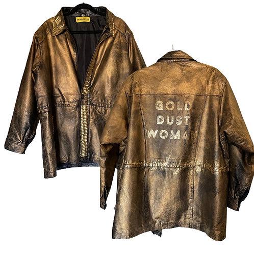 Gold Dust Woman Art to Wear  Stevie Nicks Leather Festival Jacket