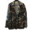 Thumbnail: Handpainted Vintage Military Camo Jacket Metallic Silver Peace Sign