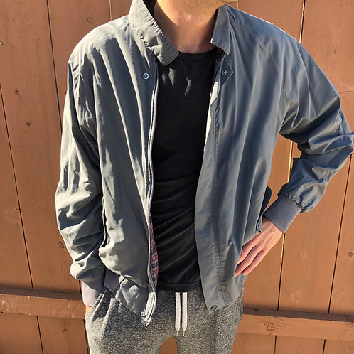 Vintage Lightweight Gray Member's Only-Style Jacket