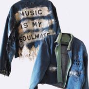 custom handpainted Music is my Soulmate Denim Jacket