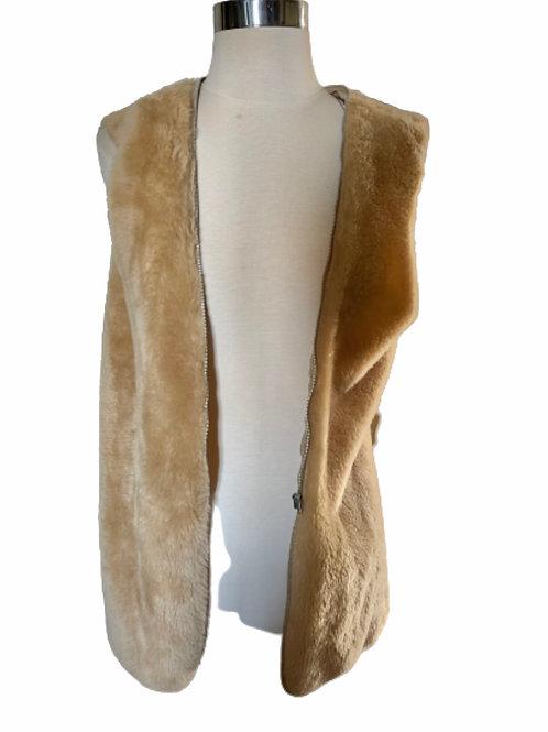 Vintage Triple Crown Unisex Faux Fur Vest