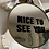"""Thumbnail: NEW Custom Round Wall Frame """"Nice to See You"""" 8"""""""