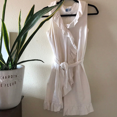 Vintage White Jay Hart Wrap Dress Tunic