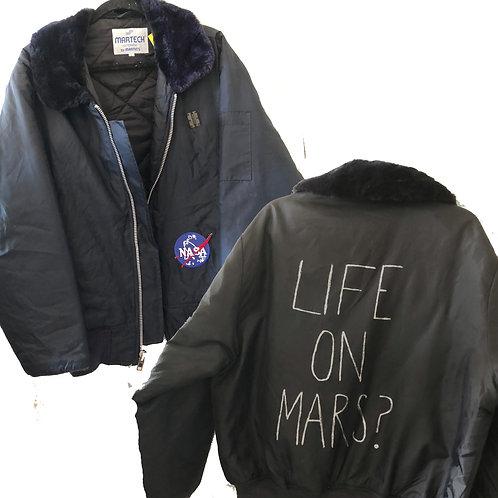 Men's Martech Navy Vintage Fur Collar Cop Jacket
