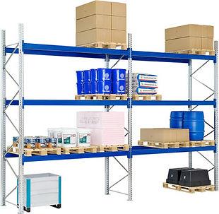 pallereoler, pakke 12 bærejern og 3 pallereolstiger, www.reolnordvest.no - Reolteknikk Nord Vest As