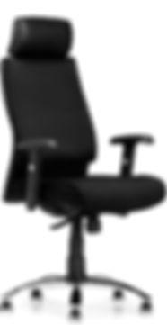 kontorstol sort, solid kontorstol, kontorstol god komfort, stilig kontorstol, hjemmekontor, www.reolnordvest.no, Reolteknikk Nord Vest AS