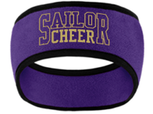 Embroidered Cheer Fleece Head Wrap