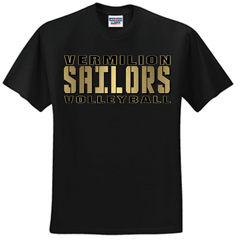 New 2020 Volleyball Basic Unisex or Youth Sailor Gold Logo