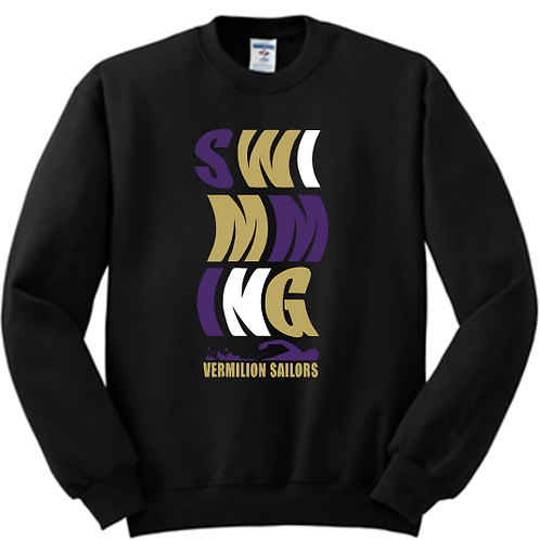 Unisex Crewneck  Swim Sweatshirt Wave Logo