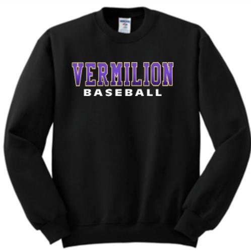 Purple Fade Baseball Fleece Crew or Hoodie  Unisex or Youth Sailor