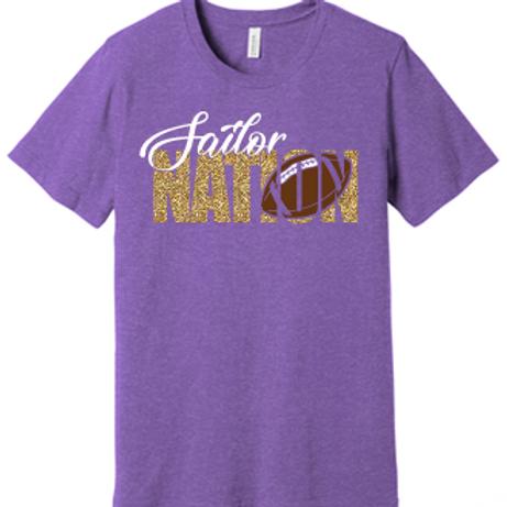 Sailor Nation Football T Shirt