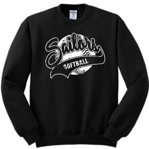 Fleece Crew Vintage Softball Basic Unisex or Youth Sailor