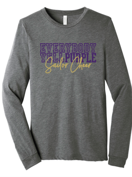 Yell Purple Bella Canvas Long Sleeve T