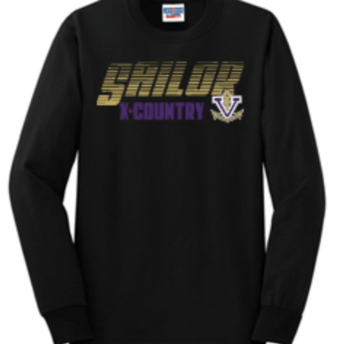 Cross Country Short or Long Sleeve Basic Unisex or Youth Sailor T-Shi