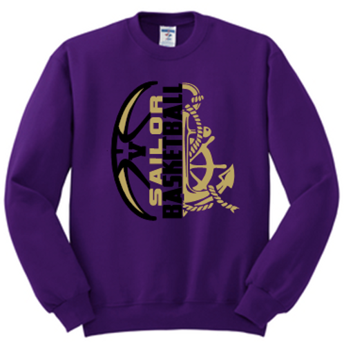 Crew Neck Sweatshirt Basketball Split logo