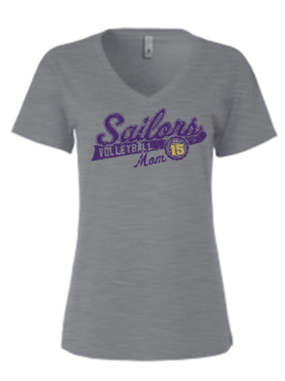 New 2020 Premium Tri Blend Ladies V-Neck Distressed Sailor Logo
