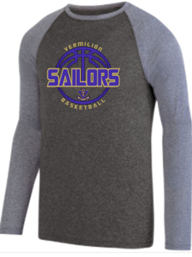 Sailor Basketball Raglan Performance Ball Logo