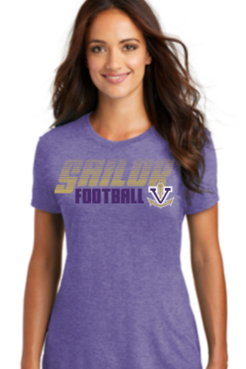 Football Premium Tri Blend Ladies V-Neck or Crew T
