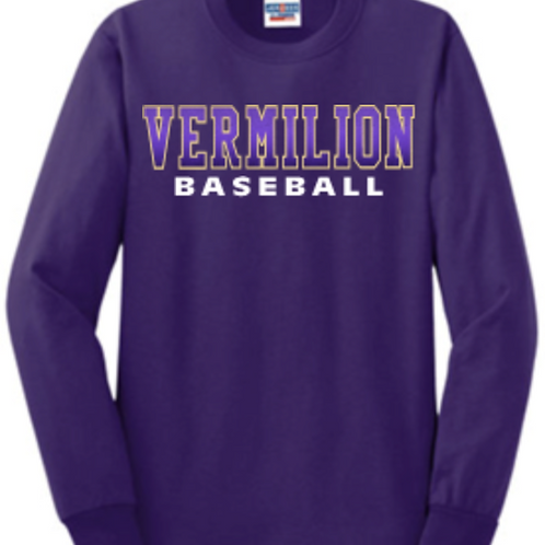 Long sleeve Baseball Purple Fade Basic Unisex or Youth Sailor