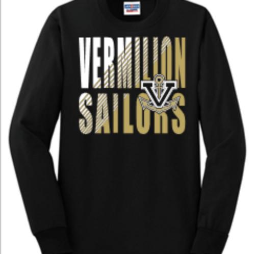 Vermilion Short or Long Sleeve Basic Unisex or Youth Sailor T-Shi