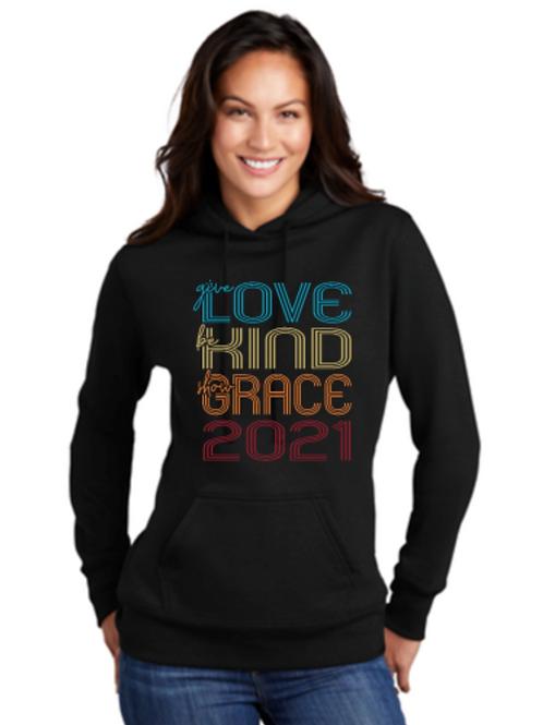 Ladies Love, Kind, Grace Sweatshirt