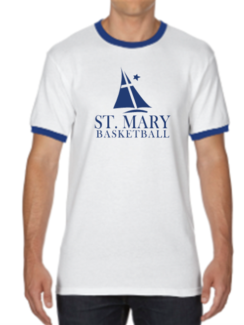 ST. MARY CYO WARM UP RINGER T-SHIRT