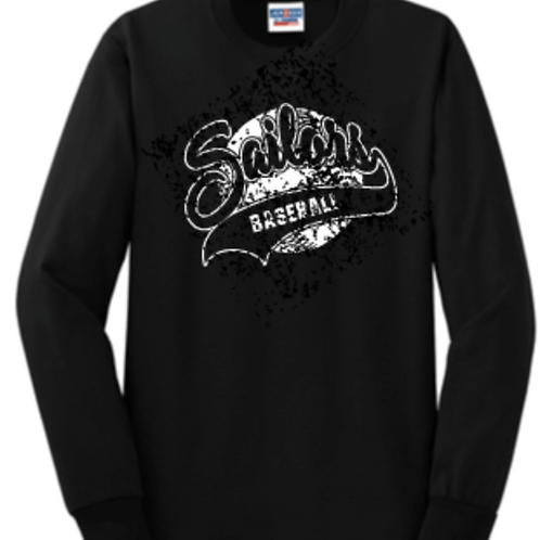 Long sleeve Baseball Script Basic Unisex or Youth Sailor