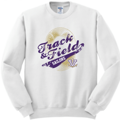 Vintage Track & Field Fleece Crew Basic Unisex or Youth Sailor