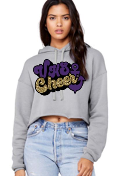Retro Cropped Cheer Hoodie