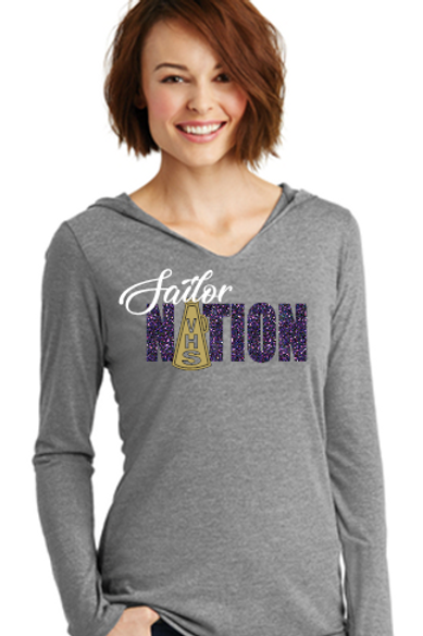 Sailor Nation Cheer T Shirt Hoodie