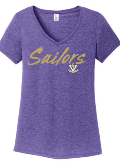 Ladies TrI Blend V-Neck T-Shirt