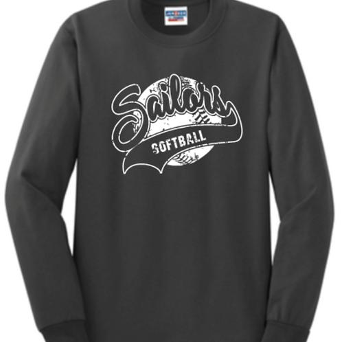 Long sleeve Vintage Softball Basic Unisex or Youth Sailor
