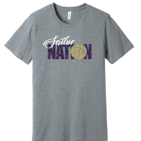 Sailor Nation Basketball T Shirt