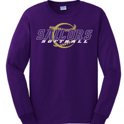 PURPLE UNISEX BASIC LONG SLEEVE T-SHIRT