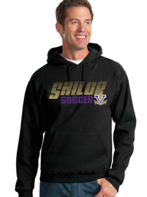 Soccer Basic Fleece Crew or Hoodie  Unisex or Youth Sailor