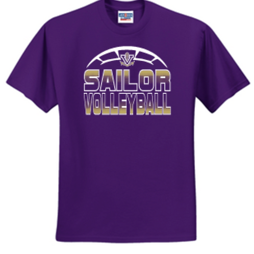 Purple VB Short or Long Sleeve Basic Unisex or Youth Sailor T-Shirt  52 29M