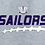 Thumbnail: Football Laces Fleece Crew or Hoodie  Unisex or Youth Sailor