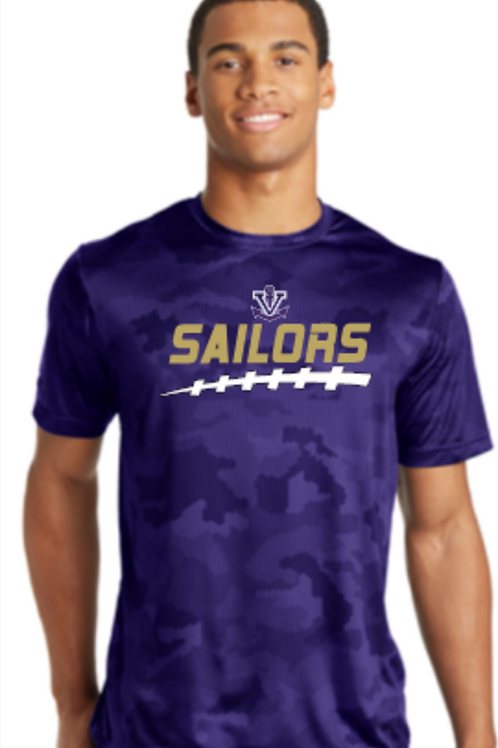 Football Camo Performance Unisex T-shirt