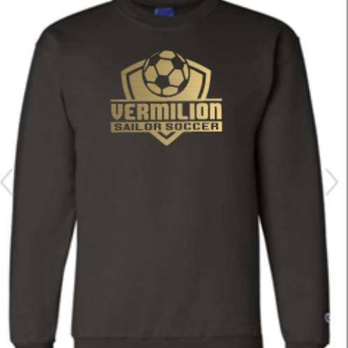 Champion Brand Soccer  Black Crew Neck