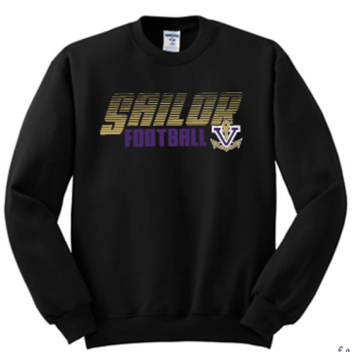Football Classic Fleece Crew or Hoodie  Unisex or Youth Sailor
