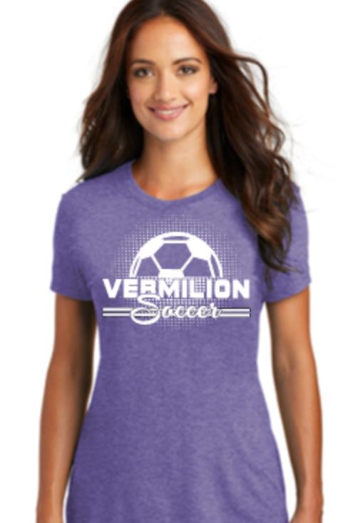 Soccer Premium Tri Blend Ladies V-Neck or Crew T